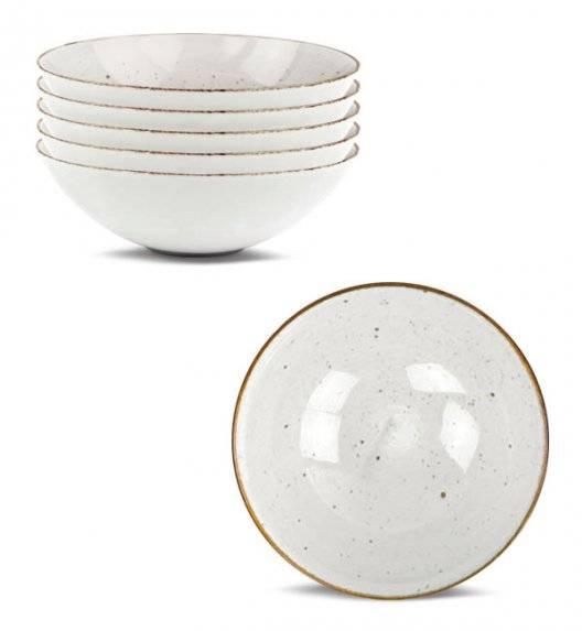 LUBIANA BOSS 6630U 6 x Salaterka 15 cm / budyniowy / porcelana ręcznie malowana