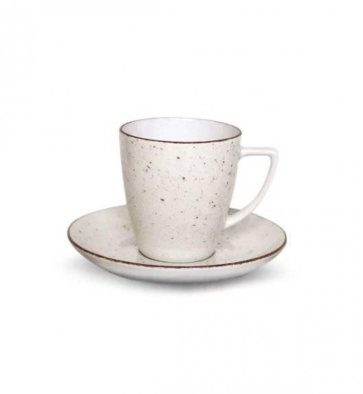 LUBIANA BOSS 6630U Filiżanka 200 ml + spodek / budyniowy / porcelana ręcznie malowana