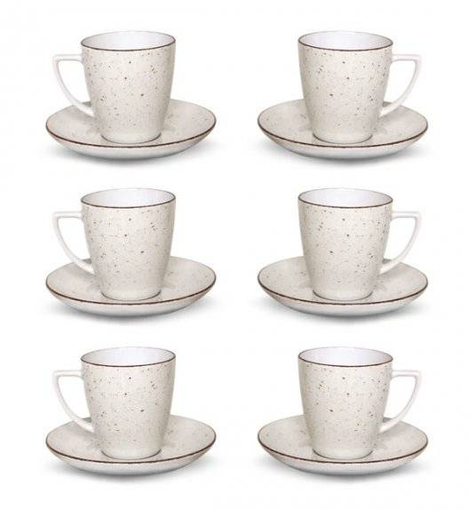 LUBIANA BOSS 6630U Komplet Filiżanka 200 ml + spodek / 6 os / 12 el / budyniowy / porcelana ręcznie malowana