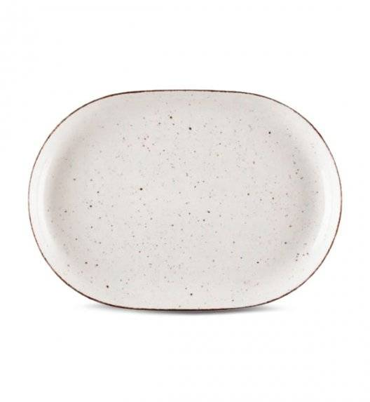 LUBIANA BOSS 6630U Półmis 33 cm / budyniowy / porcelana ręcznie malowana