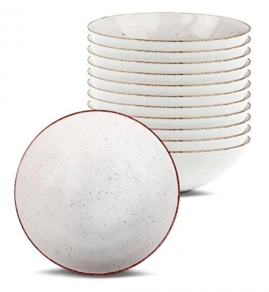 LUBIANA BOSS 6630U Komplet Talerze głębokie 18 cm / 12 os / 12 el / budyniowy / porcelana ręcznie malowana