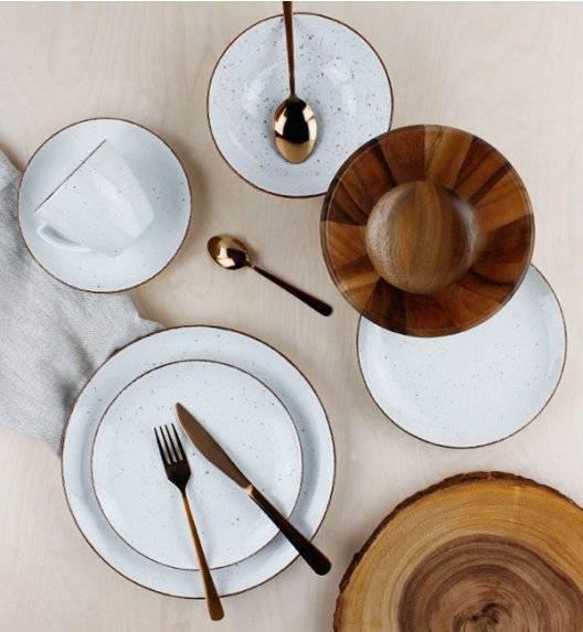 LUBIANA BOSS 6630U Serwis obiadowo - kawowy 120 el / 24 osoby / budyniowy / porcelana ręcznie malowana