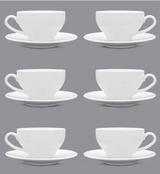 LUBIANA PAULA Komplet Filiżanka 300 ml + spodek 17 cm / 6 os / 12 el / porcelana