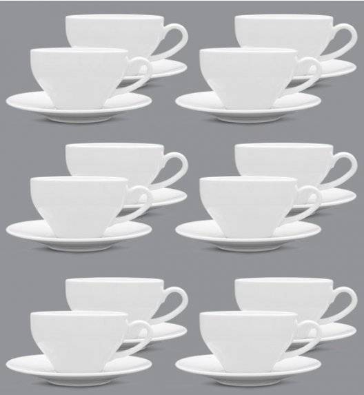 LUBIANA PAULA Komplet Filiżanka 300 ml + spodek 17 cm / 12 os / 24 el / porcelana