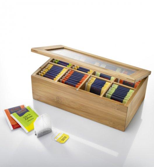 WYPRZEDAŻ! WESTMARK Bambusowe pudełko do przechowywania herbaty