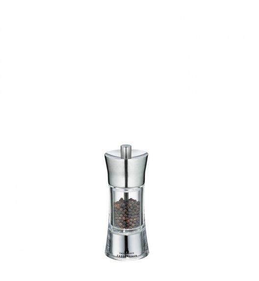 WYPRZEDAŻ! ZASSENHAUS Młynek do pieprzu AACHEN ⌀ 5,8 x 14 cm, stalowo-akrylowy / FreeForm