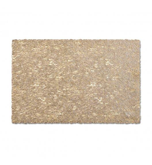 WYPRZEDAŻ! ZELLER WEAVE Prostokątna podkładka PCV na stół 30 x 45 cm / złota