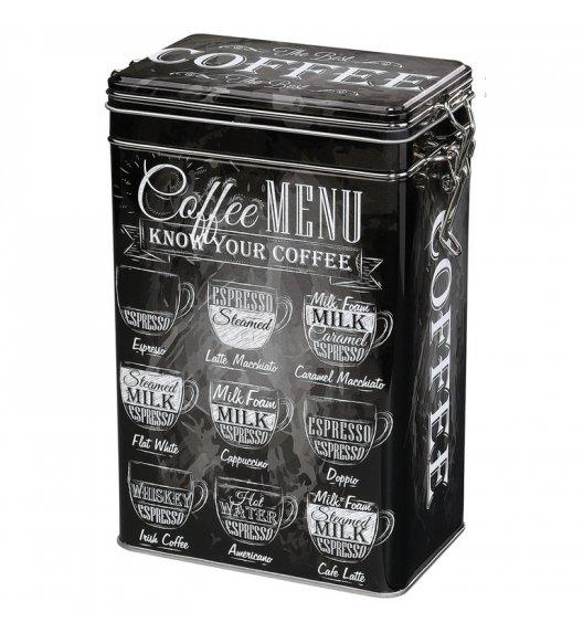 WYPRZEDAŻ! ZASSENHAUS Metalowy pojemnik na kawę w stylu retro 500 g / czarny