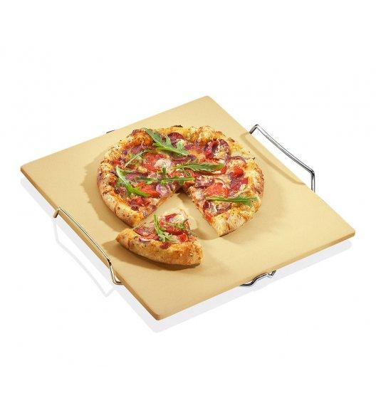 WYPRZEDAŻ! KUCHENPROFI Kamień do pieczenia pizzy na stelażu 38 x 35 cm / FreeForm