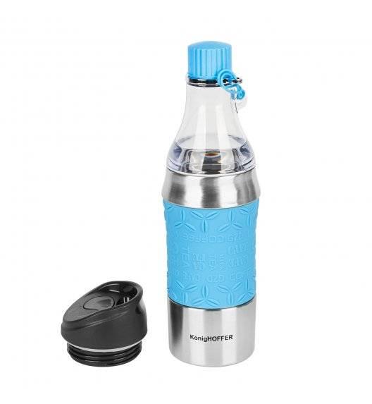 KonigHOFFER TROY Butelka termiczna / kubek 2w1 / 350-500 ml / błękitna