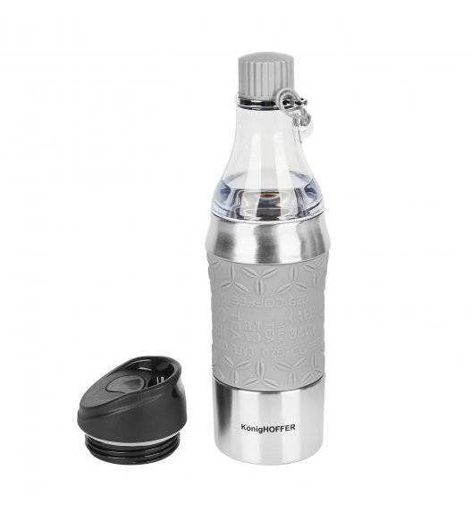 KonigHOFFER TROY Butelka termiczna / kubek 2w1 / 350-500 ml / szary