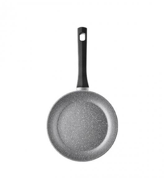AMBITION ONYKS Patelnia 20 cm / powłoka Qualum Basic Stone / indukcja / szary granit