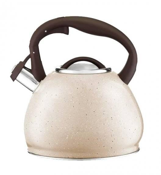 AMBITION BROWN STONE Czajnik 2,5 L / indukcja / powłoka Qualum Basic Stone