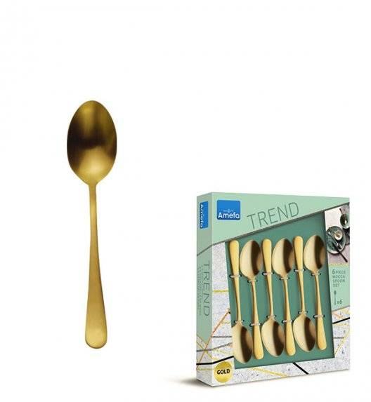 AMEFA AUSTIN VINTAGE Sztućce UE Komplet łyżeczki do kawy 6 el w pudełku / RETRO STYL / złote / wieczysta gwarancja