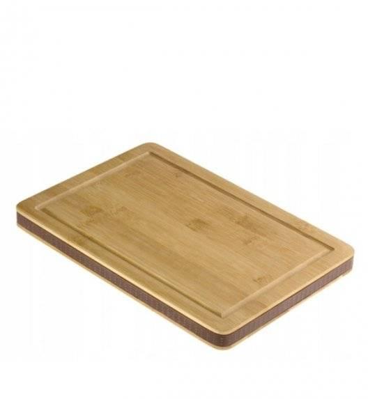 WYPRZEDAŻ! AMBITION BROWN STONE Deska do krojenia 32 x 21,5 cm / drewno bambusowe