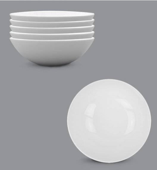 LUBIANA BOSS Komplet talerz głęboki 18 cm 6 os / 6 el / biały / porcelana