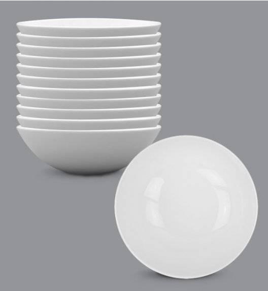 LUBIANA BOSS Komplet talerz głęboki 18 cm 12 os / 12 el / biały / porcelana