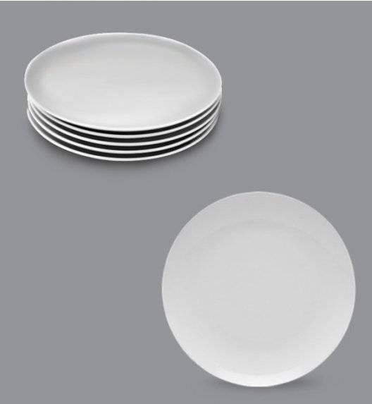 LUBIANA BOSS Komplet talerz deserowy 20,5 cm / 6 os / 6 el / biały / porcelana