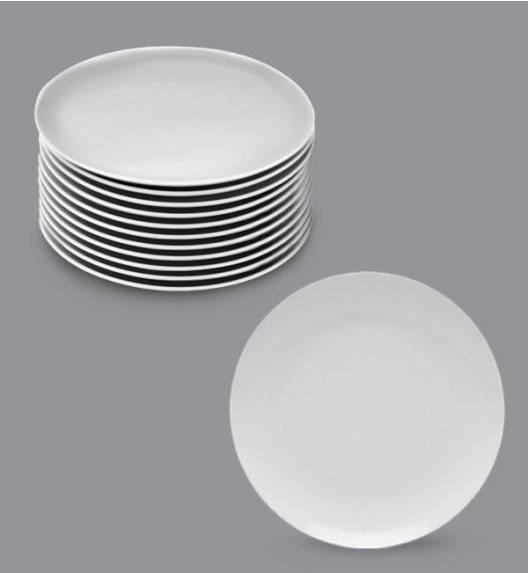 LUBIANA BOSS Komplet talerz deserowy 20,5 cm / 12 os / 12 el / biały / porcelana