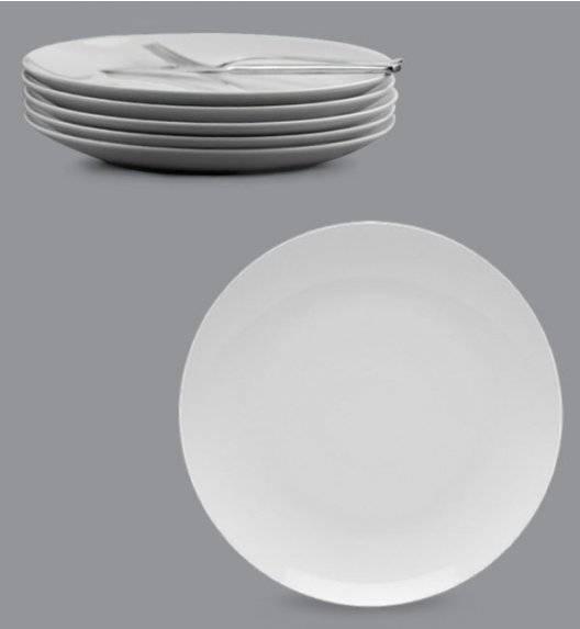 LUBIANA BOSS Komplet talerz obiadowy 27 cm / 6 os / 6 el / biały / porcelana