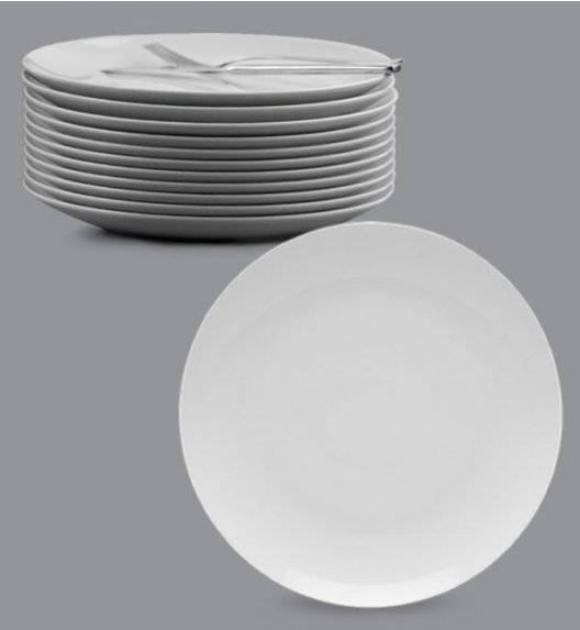 LUBIANA BOSS Komplet talerz obiadowy 27 cm / 12 os / 12 el / biały / porcelana