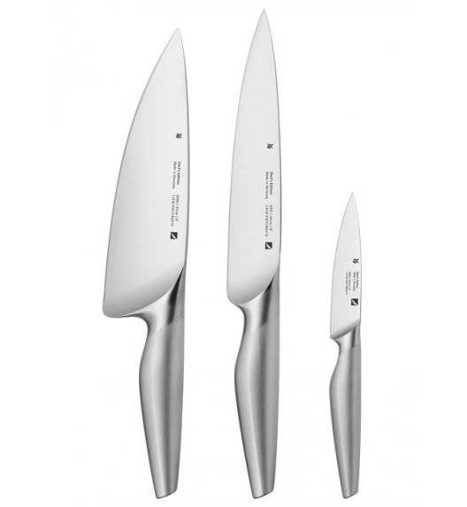 WMF CHEF'S EDITION Zestaw 3 noży kuchennych / Stal nierdzewna Cromorgan