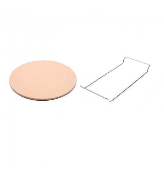 KONIGHOFFER Kamień do pieczenia pizzy 33 cm ze stojakiem / kamień + stal nierdzewna