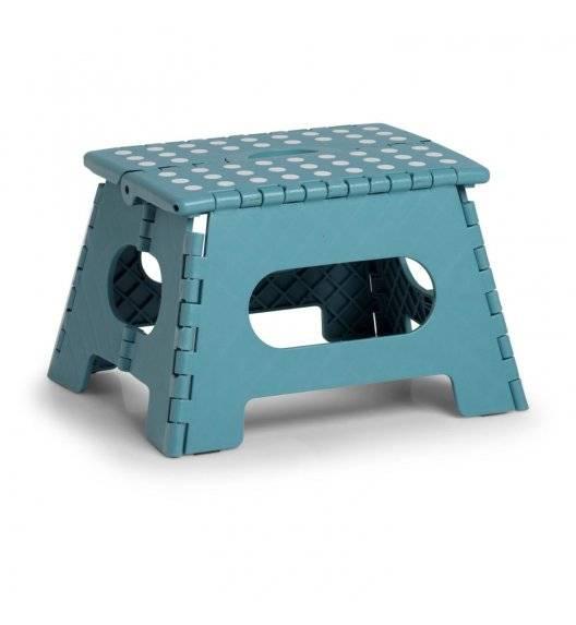 ZELLER Taboret składany antypoślizgowy 35 cm / niebieski / tworzywo sztuczne