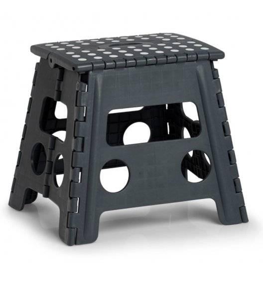 ZELLER Taboret składany antypoślizgowy 37 cm / ciemny szary / tworzywo sztuczne