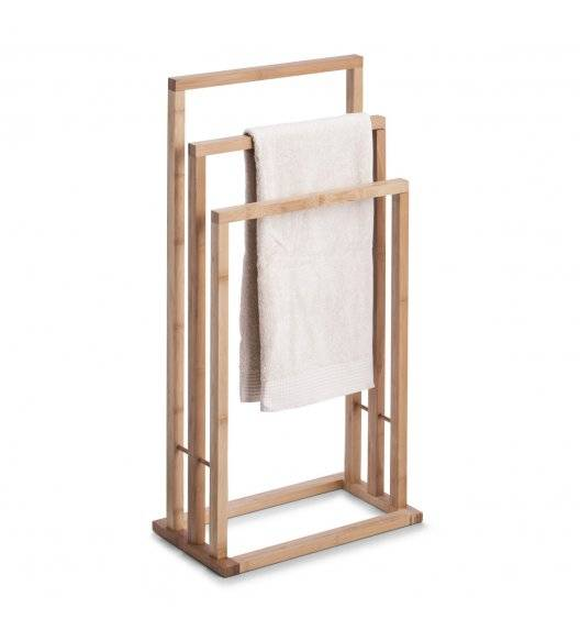 ZELLER Stojący wieszak na ręczniki 81,5 cm / drewno bambusowe