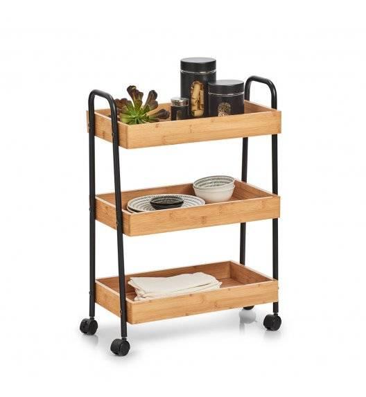 ZELLER Wózek boczny na kółkach 50x28x70cm / drewno bambusowe