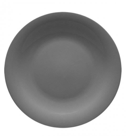 LUBIANA ETO K100 Talerz obiadowy 25 cm szary / porcelana ręcznie malowana