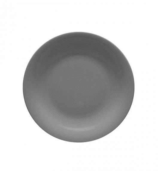 LUBIANA ETO K100 Talerz deserowy 21 cm szary / porcelana ręcznie malowana
