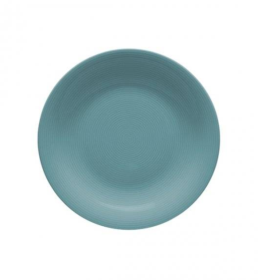 LUBIANA ETO K500 Talerz deserowy 21 cm / morski / porcelana ręcznie malowana