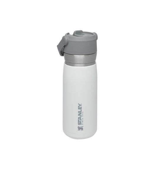 STANLEY Bidon termiczny ze słomką 650 ml / biały / stal nierdzewna
