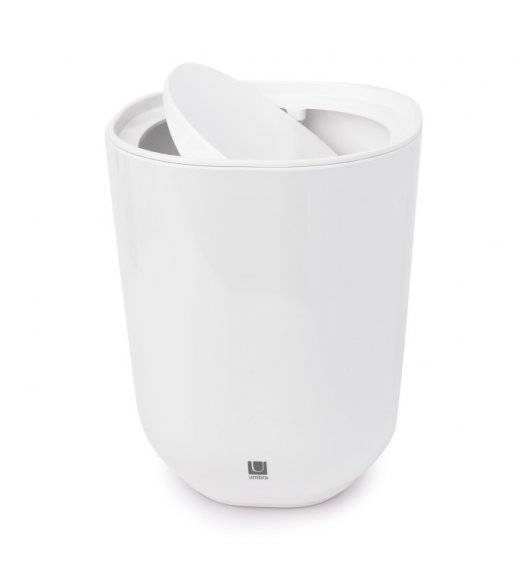 UMBRA STEP Kosz łazienkowy z pokrywką / biały