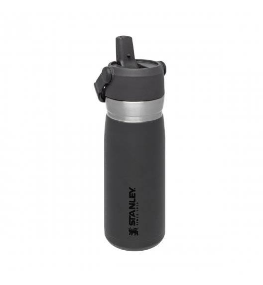 STANLEY Bidon termiczny 650 ml ze słomką / grafitowy / stal nierdzewna