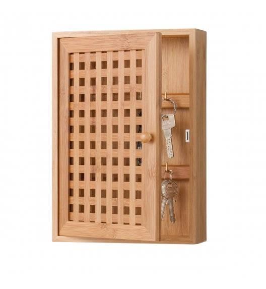 ZELLER Skrzynka na klucze 27 x 19 cm / drewno bambusowe