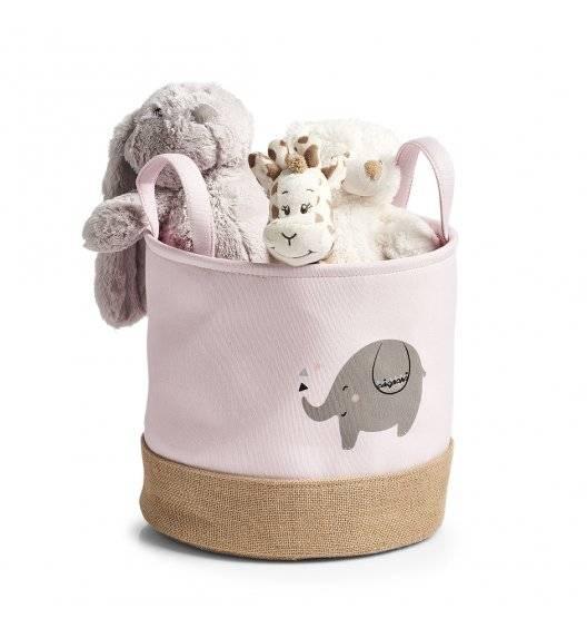 ZELLER ELEPHANT Kosz do przechowywania Ø 30 x 29 cm / różowy