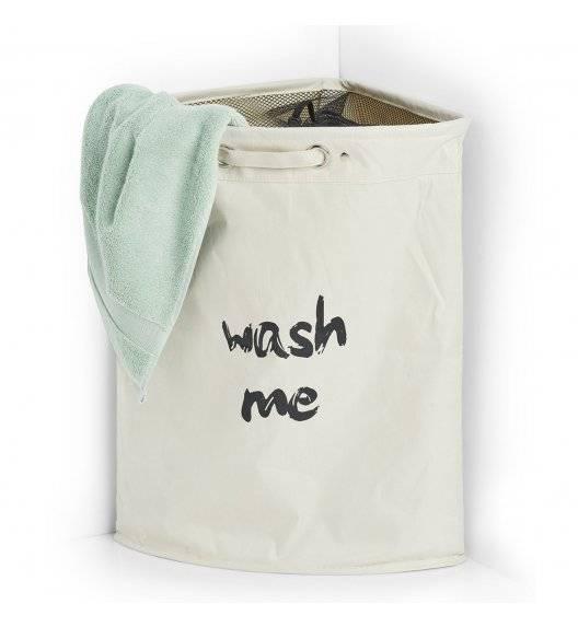 ZELLER Kosz na pranie narożny / 34 x 34 x 56 cm / tkanina poliestrowa