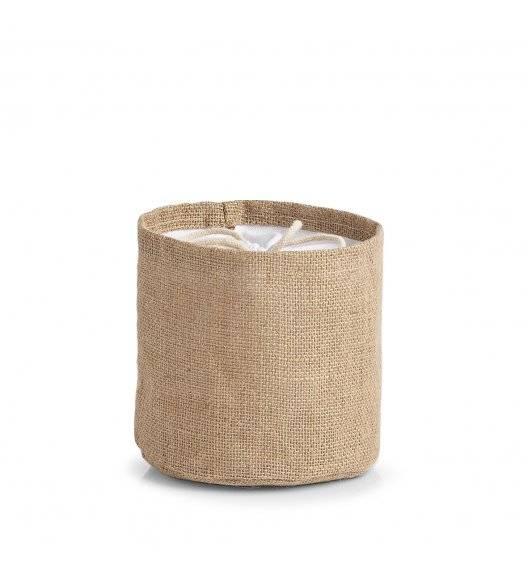 ZELLER Woreczek na warzywa Ø 16 cm / jutowa tkanina + bawełna