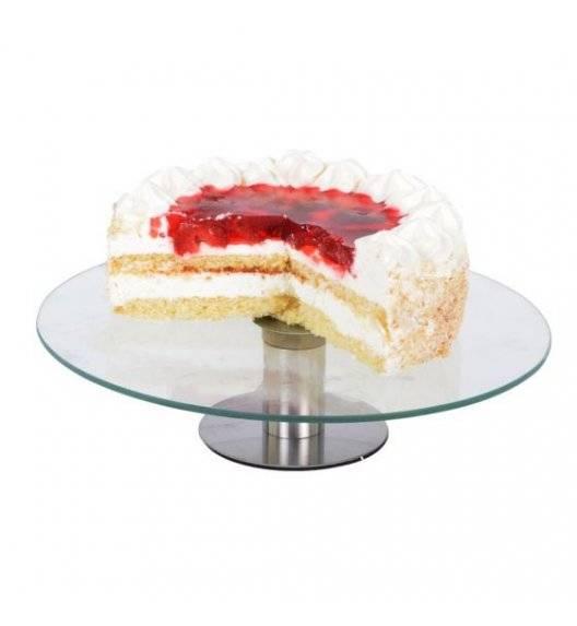 ODELO EMMA Obrotowa patera na ciasto 30 cm na nóżce / szkło