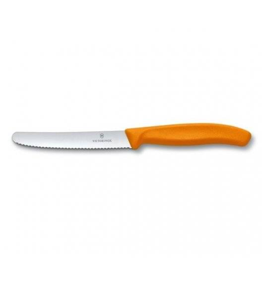 VICTORINOX SWISS CLASSIC Nóż stołowy / do pomidorów 11 cm / pomarańczowy