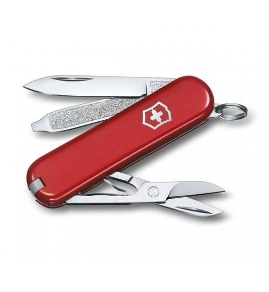 VICTORINOX CLASSIC SD Scyzoryk z nożyczkami i śrubokrętem / czerwony / wyprodukowany w Szwajcarii