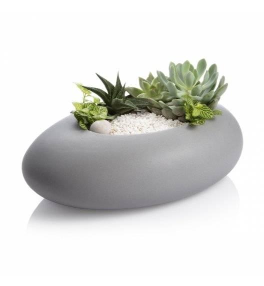 TESCOMA FANCY HOME Stones Owalna osłonka na doniczkę / szara / ceramika