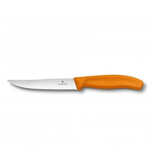 VICTORINOX SWISS CLASSIC GOURMET Nóż do steków 12 cm / pomarańczowy