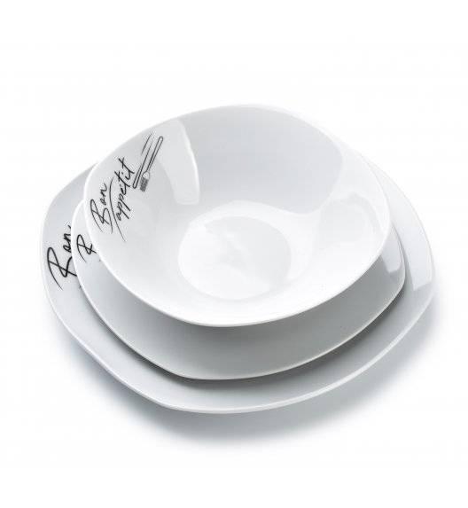 AFFEKDESIGN BON APPETIT Serwis obiadowy 18 elementów / 6 osób / porcelana