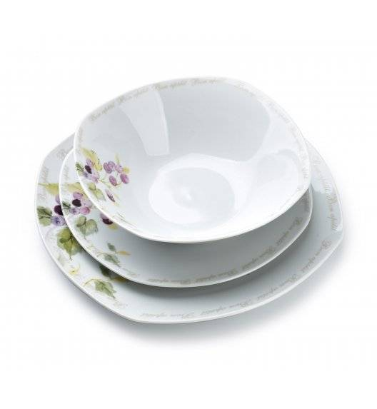 AFFEKDESIGN CRANBERRY Serwis obiadowy 18 elementów / 6 osób / porcelana