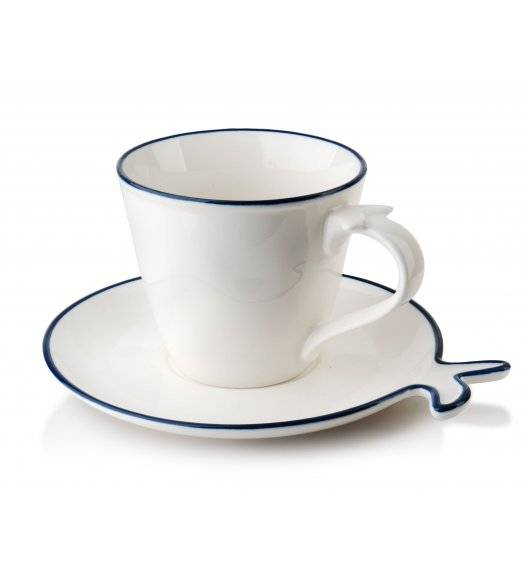 AFFEKDESIGN PORTO Filiżanka 250 ml ze spodkiem / porcelana