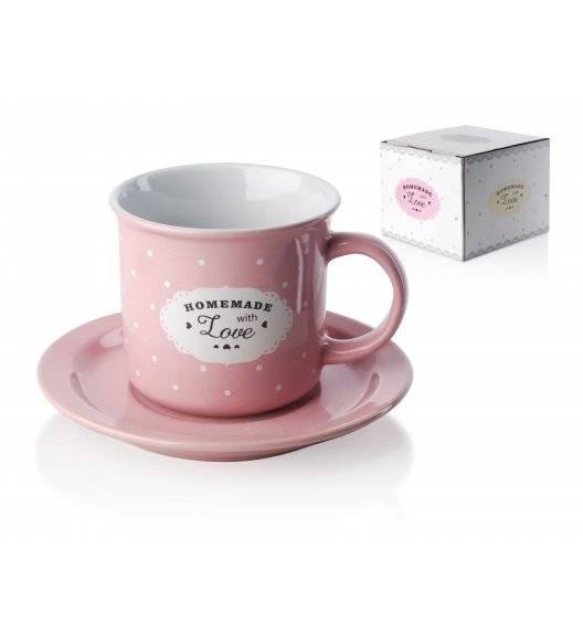 AFFEKDESIGN LOVE Komplet 2 filiżanek 200 ml ze spodkami / porcelana